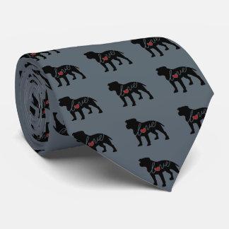 Amor de Pitbull (oídos descolados) Corbata Personalizada