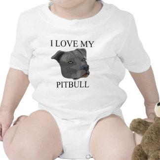 ¡Amor de PITBULL Traje De Bebé