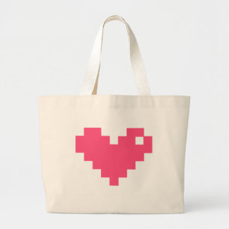 Amor de Pixelated Bolsa Tela Grande