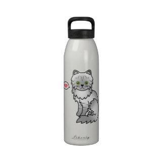 Amor de plata del gato persa de la chinchilla del  botallas de agua