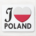 Amor de Polonia Tapetes De Ratón