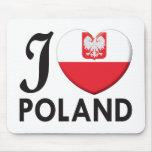 Amor de Polonia v2 Tapete De Raton