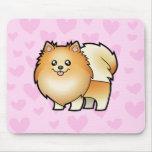 Amor de Pomeranian Alfombrilla De Ratones