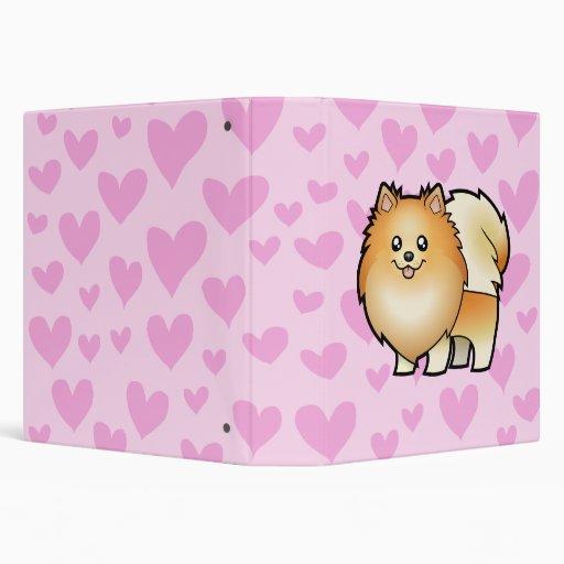 "Amor de Pomeranian Carpeta 1 1/2"""