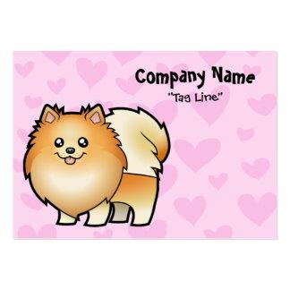 Amor de Pomeranian Tarjetas De Visita