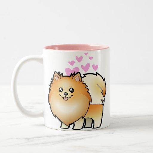 Amor de Pomeranian Taza