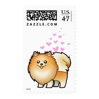 Amor de Pomeranian Timbre Postal