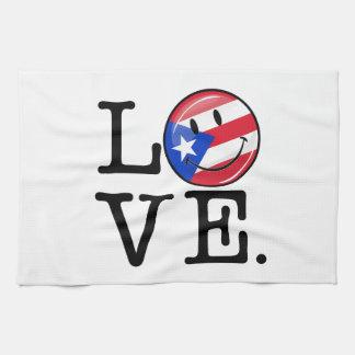 Amor de Puerto Rico Toallas De Cocina