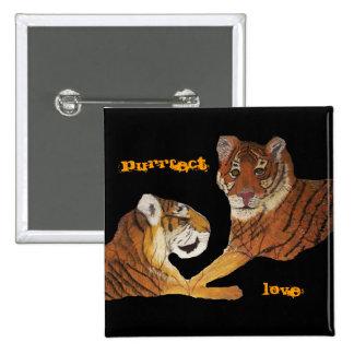 Amor de Purrfect de los tigres Pin