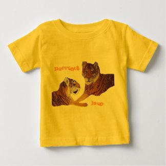 Amor de Purrfect de los tigres Playera De Bebé