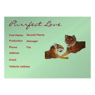 Amor de Purrfect de los tigres Plantillas De Tarjetas Personales