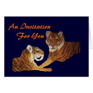 Amor de Purrfect de los tigres Tarjeta De Felicitación