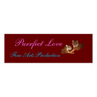 Amor de Purrfect de los tigres Tarjeta De Negocio