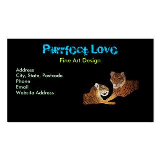 Amor de Purrfect de los tigres Tarjeta De Visita