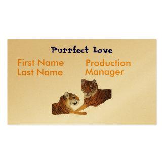 Amor de Purrfect de los tigres Tarjetas De Visita