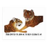 Amor de Purrfect de los tigres Tarjetas Postales