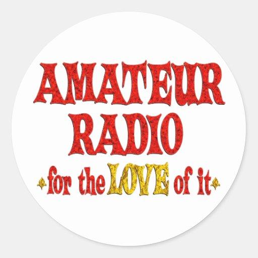 Amor de radio aficionado pegatinas redondas