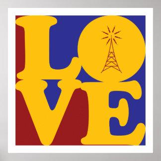 Amor de radio aficionado póster