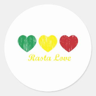 Amor de Rasta Etiqueta Redonda