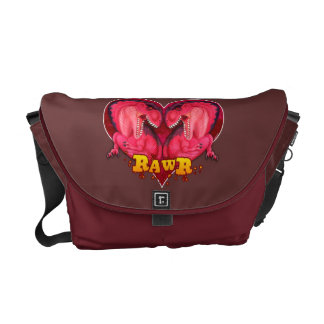 Amor de Rawr un bolso del saurus Bolsas De Mensajería