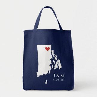 Amor de Rhode Island - personalizable Bolsa Tela Para La Compra