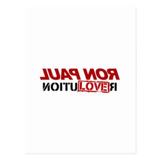 Amor de Ron Paul - voto 2012 del presidente de la  Postal