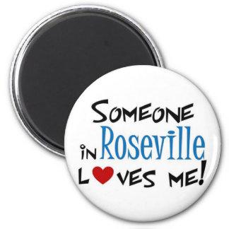 Amor de Roseville Imán Redondo 5 Cm