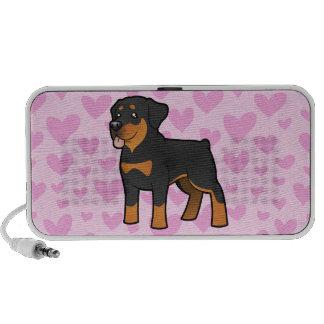 Amor de Rottweiler (añada su propio fondo!) Altavoz De Viajar