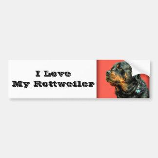 Amor de Rottweiler Pegatina De Parachoque