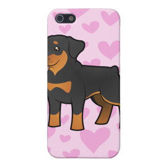 Amor de Rottweiler iPhone 5 Carcasas