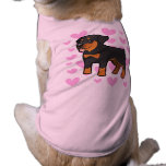 Amor de Rottweiler Playera Sin Mangas Para Perro