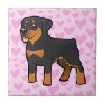 Amor de Rottweiler Teja Ceramica