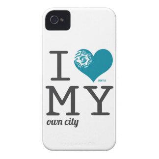 Amor de Seattle Washington I mi propia ciudad iPhone 4 Carcasa