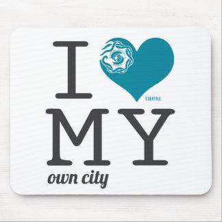 Amor de Seattle Washington I mi propia ciudad Tapetes De Ratón