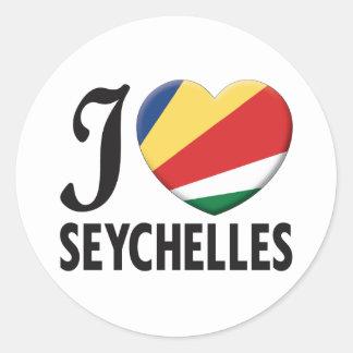 Amor de Seychelles Pegatina Redonda