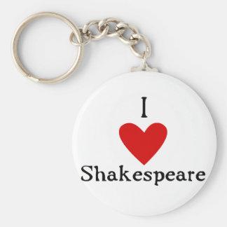 Amor de Shakespeare Llavero Redondo Tipo Pin