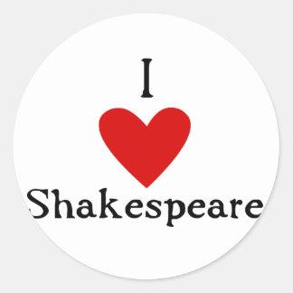 Amor de Shakespeare Pegatina Redonda