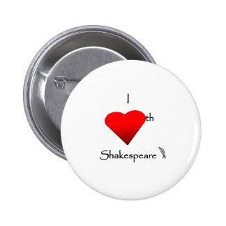 Amor de Shakespeare Pin Redondo De 2 Pulgadas
