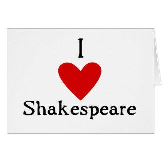 Amor de Shakespeare Tarjeta De Felicitación