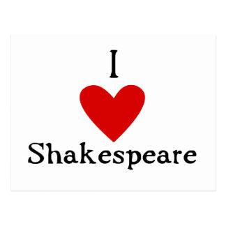 Amor de Shakespeare Tarjeta Postal