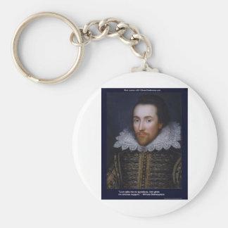 Amor de Shakespeare/tarjetas de regalos sin fin de Llavero