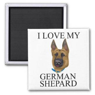 Amor de Shepard del alemán Imán Cuadrado