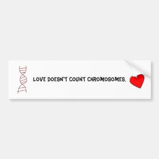 Amor de Síndrome de Down Etiqueta De Parachoque