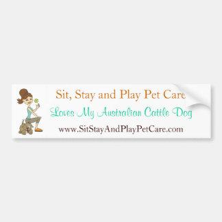 Amor de SitStay&PlayPetCare mi perro australiano d Etiqueta De Parachoque