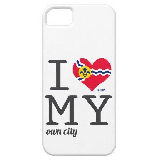 Amor de St. Louis Missouri I mi propia ciudad iPhone 5 Carcasas