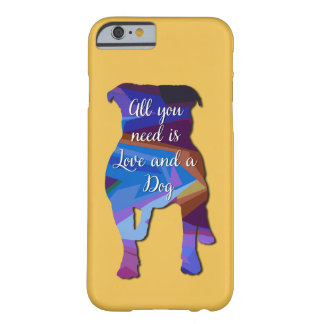 Amor de Staffordshire bull terrier Funda De iPhone 6 Barely There
