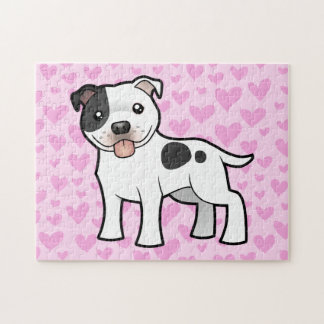 Amor de Staffordshire bull terrier Puzzle