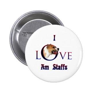 Amor de Staffordshire Terrier americano I Pin