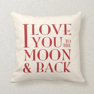 Amor de su color 'usted a la luna y al back almohadas