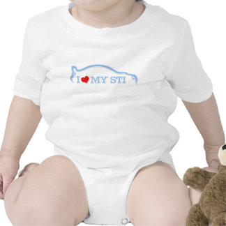 Amor de Subbie - amor de I mi STI - azules cielos Traje De Bebé